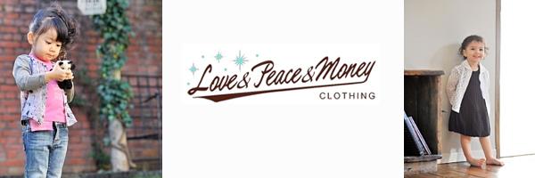 Love&Peace&Moneyの子供服のイメージ